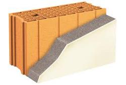 Construction en brique avec doublage isolant