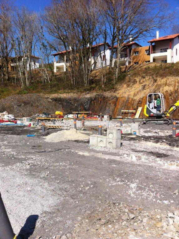 Construction d'un bâtiment professionnel à Ascain