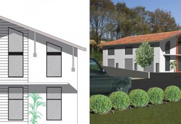 Plan de construction d'un local professionnel à Ascain