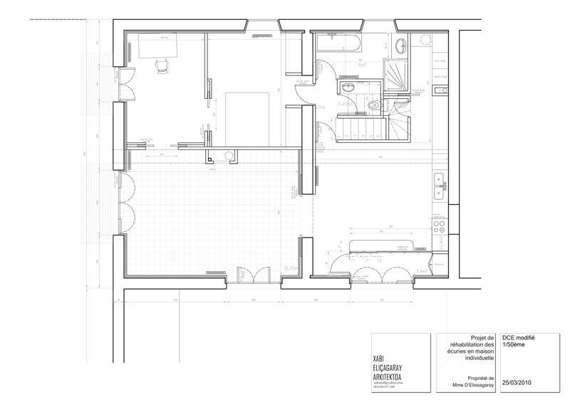 plan renovation ecurie maison basque - Plan Maison Basque