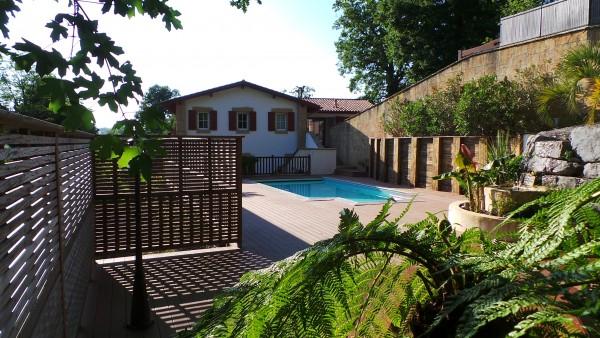 Construction d'une piscine à Ascain au Pays Basque