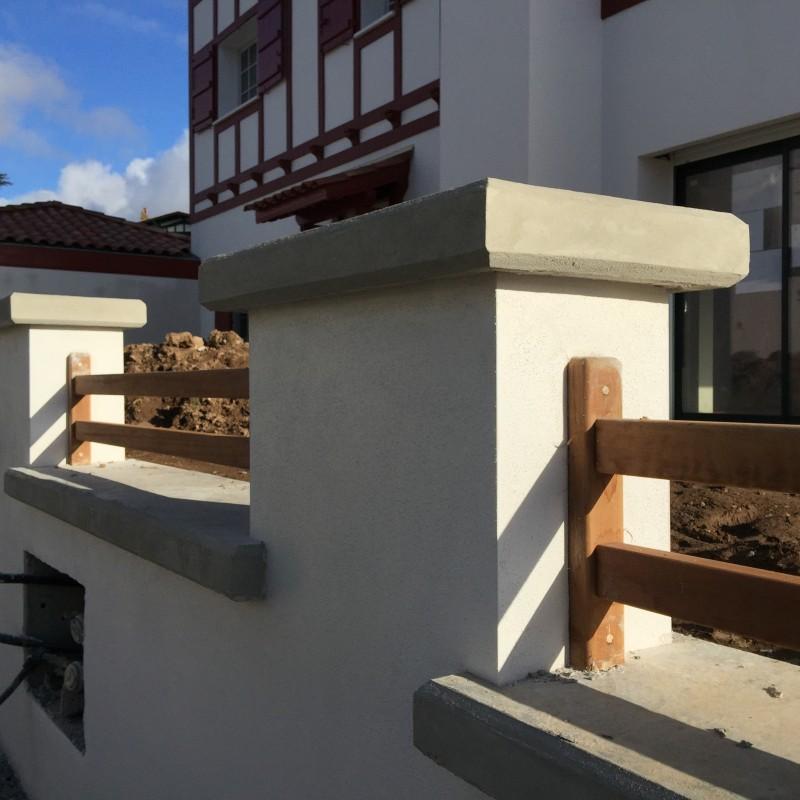 Construction d'une villa Basque en brique Monomur