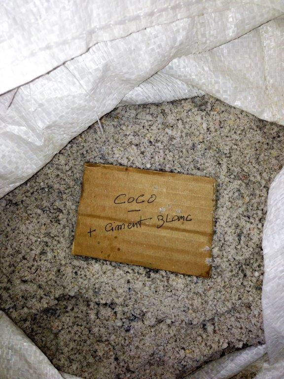 """Béton ciré """"coco ciment blanc"""""""