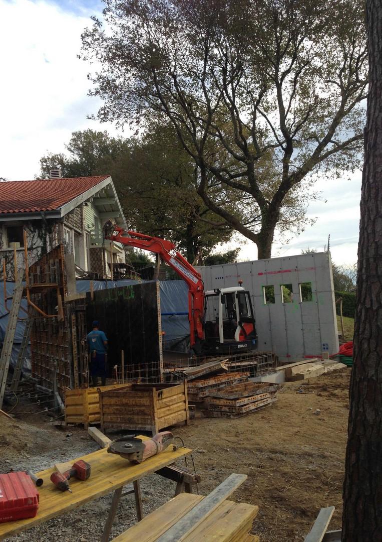 Construction d'une extension tout en béton