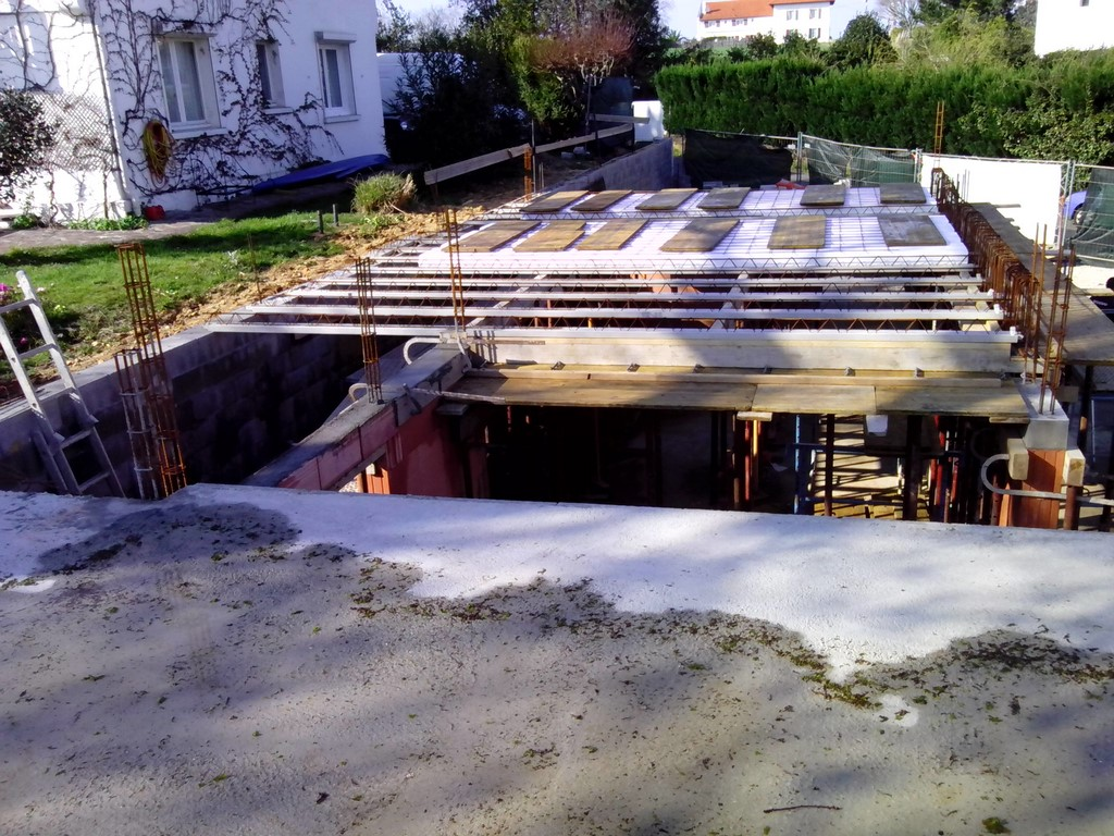 Construction d'une villa moderne Basque à Bidart