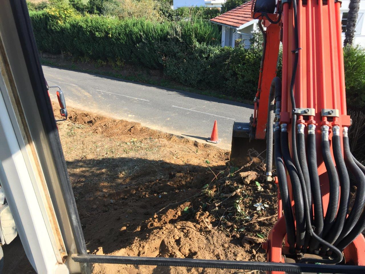 Construction d'une villa moderne à Bidart au Pays Basque