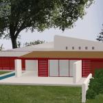Plan 3D d'une villa moderne à Bidart au Pays Basque