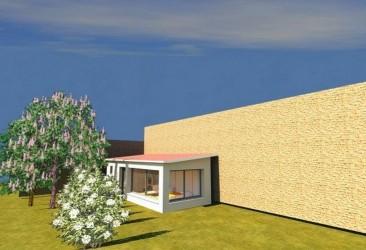 Conception 3D d'un plan de véranda au Pays Basque