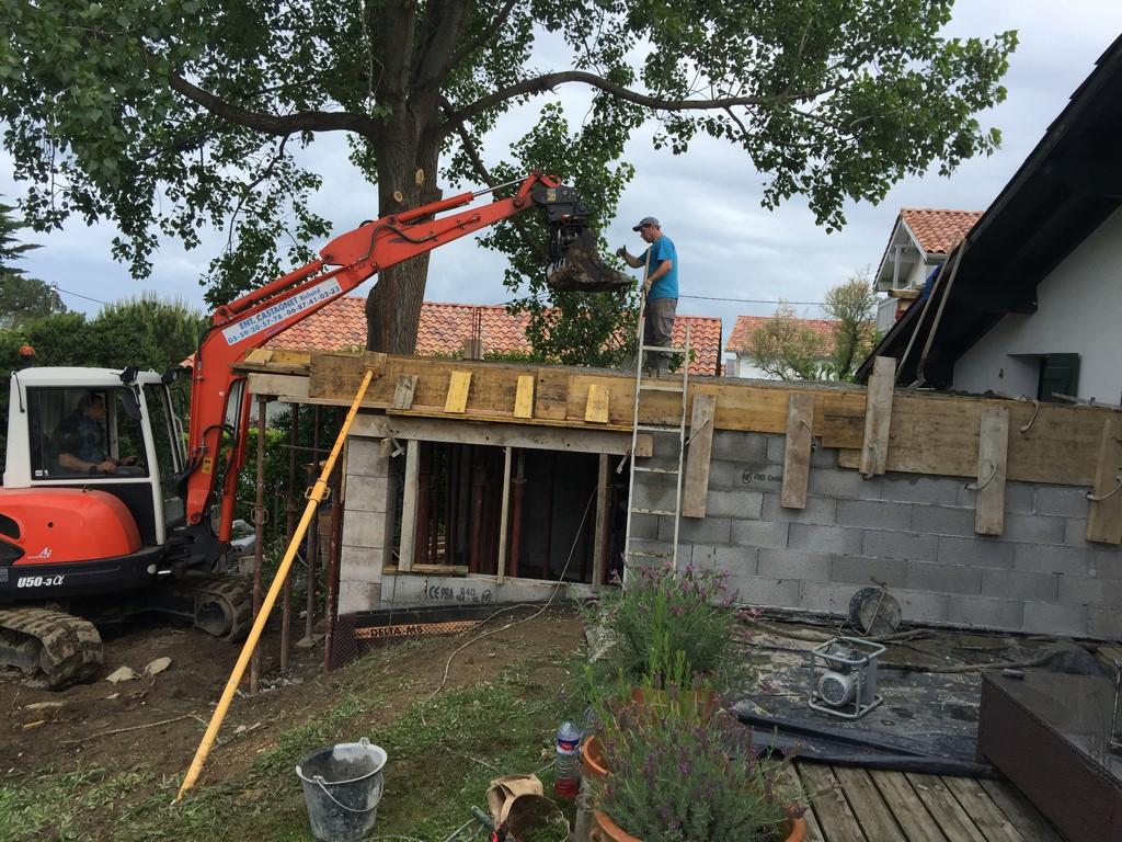 Construction d'une extension de maison Basque à Guethary