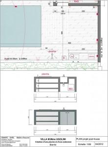 Plan de construction d'une piscine à Biarritz