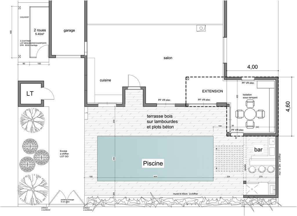 Plan de construction d'une piscine à Biarritz