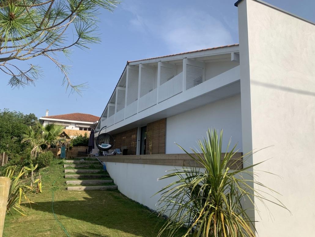 Construction d'une villa traditionnelle basque à Bidart